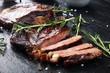 Barbecue Rib Eye Steak or rump steak - Dry Aged Wagyu barbecue Entrecote Steak