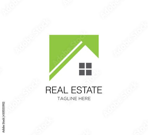 Fotomural  design logo real estate building vector template