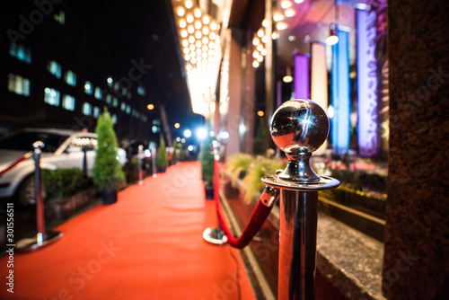 Empty red carpet entrance Canvas-taulu