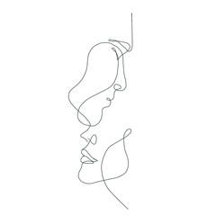 crte crta lica, modni koncept, ženska ljepota minimalist, vektorska ilustracija za majicu, dizajn slogana print grafički stil