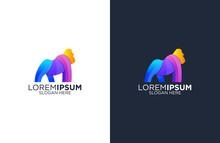 Colorful Gorilla Logo Design V...