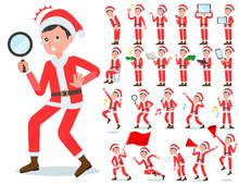 Flat Type Santa Claus Costume Dad_Action