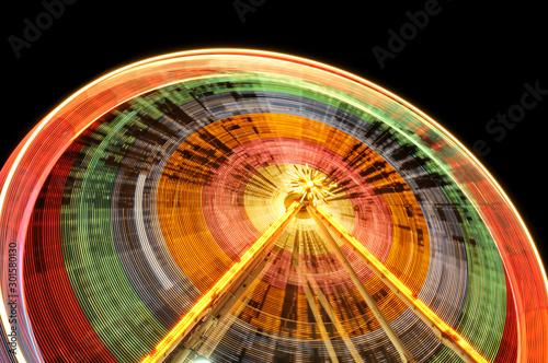 Fototapeta Riesenrad in der Nacht obraz