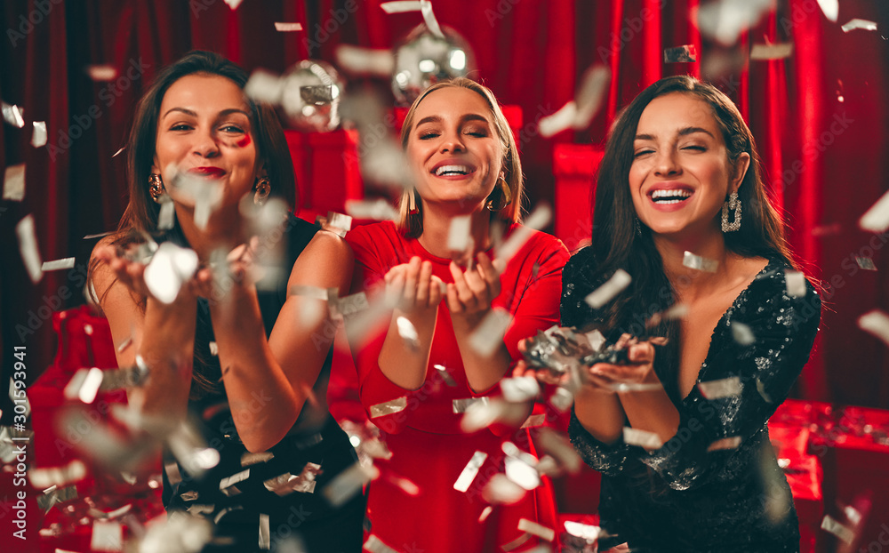 Fototapety, obrazy: New year girls