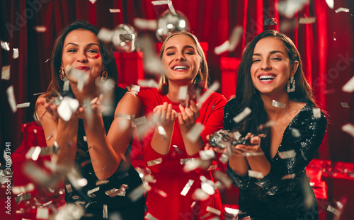 New year girls Canvas