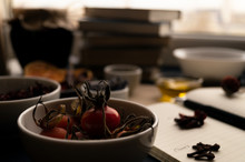 Rose Hip In A Bowl With Dried ...