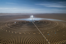 Aerial View Of Solar Thermal P...