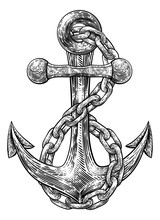 An Anchor From A Boat Or Ship ...