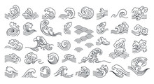 Set Of Oriental Wave Vector Il...
