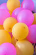 canvas print picture - pink and yellow balloons party