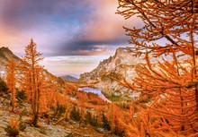 Fall Sunrise In The Cascade Mo...