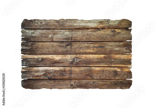 Old plank isolated on white Fototapeta