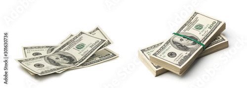 Fotografie, Obraz money isolated on a white