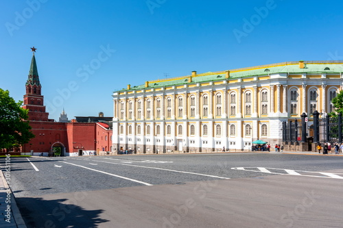 Photo Borovitskaya Tower and Kremlin Armoury museum, Moscow, Russia