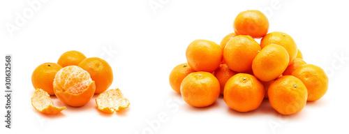 Fototapeta Mandarynki  owoce-mandarynki-lub-mandarynki-na-bialym-tle