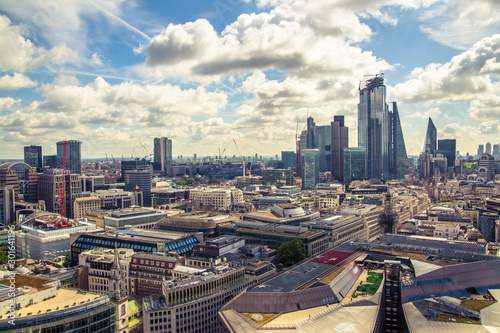 City of London view, business, banking and office area Canvas Print