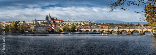 Obraz Charles Bridge Over Moldova River And Hradcany Castle In Prague In The Czech Republic - fototapety do salonu