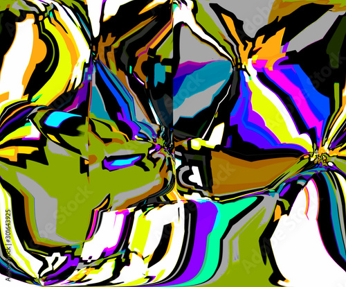 Deurstickers Paradijsvogel Abstract colored pattern. Digital art design