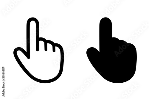 Fényképezés Hands with pointing finger – stock vector