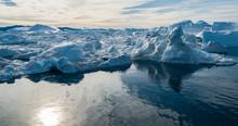 Drone Photo Of Iceberg And Ice...