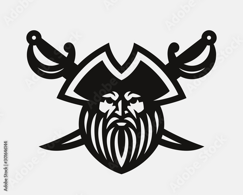 Photo Pirate modern logo