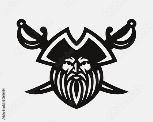 Pirate modern logo Wallpaper Mural