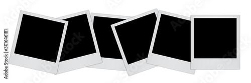 Fotografie, Obraz  Group empty black photo frame with shadows - stock vector