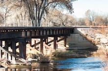 Railroad Bridge Over The Cache La Poudre River