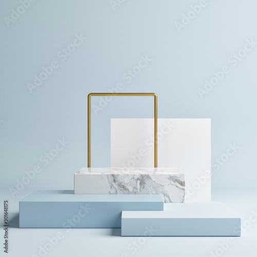Pinturas sobre lienzo  Mock up geometric shape podium for product design, 3d rendering, 3d illustration