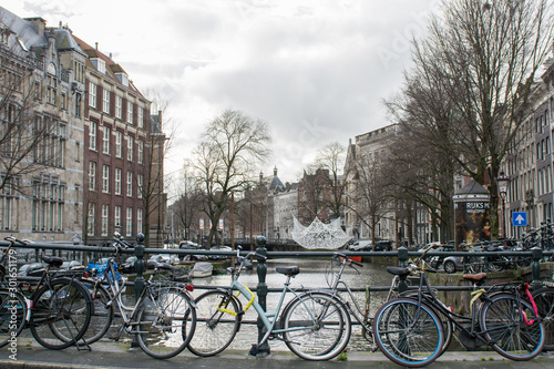 bicycles in amsterdam #301651179