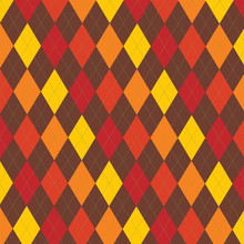 Retro Thanksgiving Fall Argyle...