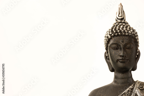 Recess Fitting Buddha statue isolated on white background