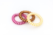 Colorful Hair Bands Isolated O...