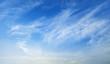 Leinwandbild Motiv blue sky with white cloud landscape background
