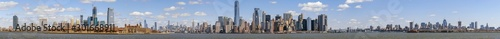 Door stickers New York Panorama Scene of New york cityscape river side which location is lower manhattan,Architecture and building with tourist concept