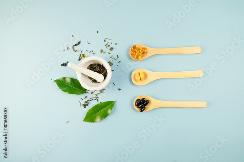 Photo  natural herb medicine