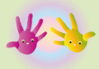 funny colored hands