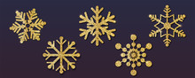 Set Of Christmas Snowflakes, D...