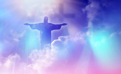 Jesus appeared bright in th...