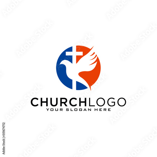 Fotografie, Obraz Church vector logo symbol graphic abstract template