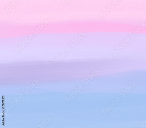 Poster Rose clair / pale pastel sweet colorful water color brush background with pink purple blue