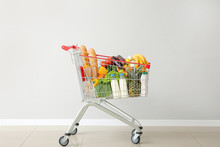 Shopping Cart With Products Ne...