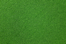 Texture Of Fake Green Grass Fo...