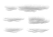 Realistic White Cloud Vectors ...