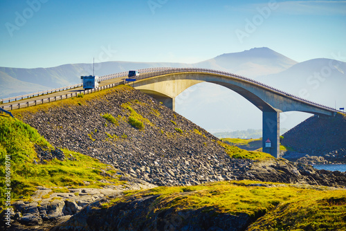 Obraz The Atlantic Road in Norway - fototapety do salonu