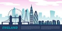 England City Landmark Landscape Vector Graphic Design