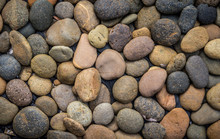 Brown Pebble Stone Or River Stone Background