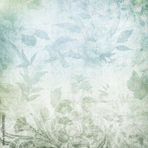 vintage grunge Elegant floral background. toned vintage decorative texture for wall and fabric