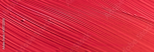 Obraz Cosmetics abstract texture background, red acrylic paint brush stroke, textured cream product as make-up backdrop for luxury beauty brand, holiday banner design - fototapety do salonu