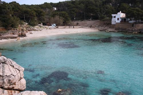Aluminium Prints Beach Buchten und Felsenküste im Osten von Mallorca